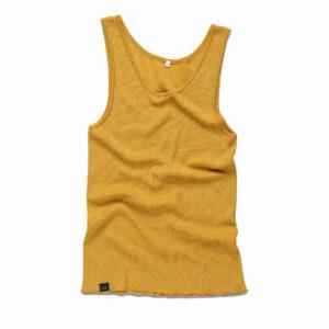 FOGG_Gildeskal_Tank_Top_Singlet-Under_Mustard-Yellow__Sennepsgul